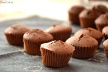 Brioșe/madlene cu ciocolată